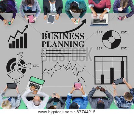 Business Planning Statistics Diagram Financial Concept
