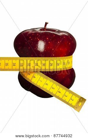 Apple and metric tape