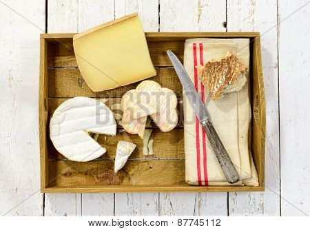 Tray Different French Cheeses