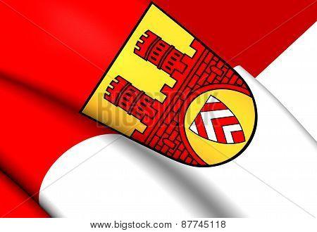 Flag Of Bielefeld, Germany.