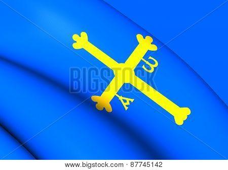 Asturias Flag, Spain.