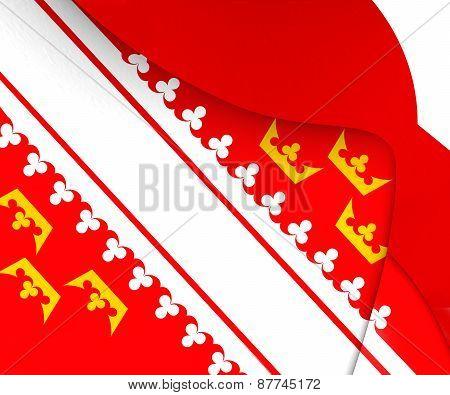 Flag Of Alsace, France.