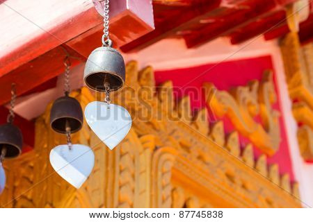 Bell Hanging From The Temple Roof