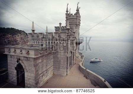 Castle The Swallow's Nest In The Crimea. Processing - Toning, Vignetting