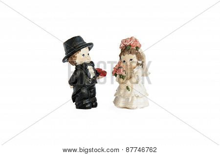 Miniature Statue Of Cute Bridal Couple