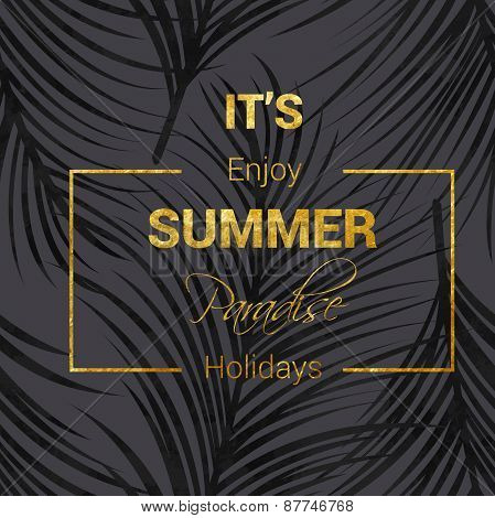 golden summer lettering