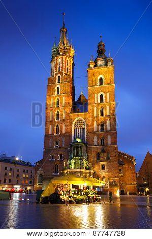 Main square in Krakow.