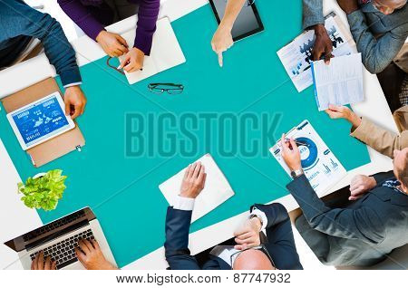 Group Of Business Discussion Cooperation Strategy Concept