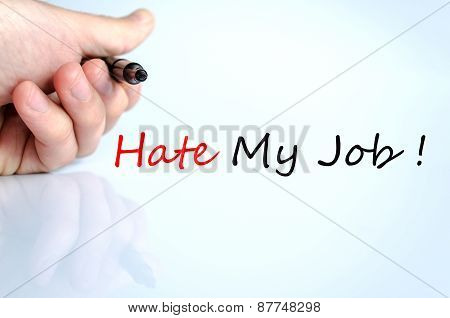 Hate My Job Concept
