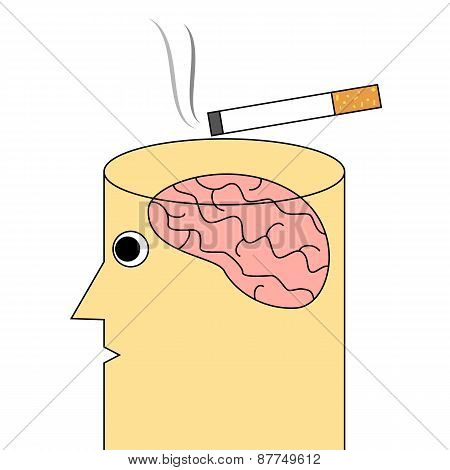 Cigarette addiction concept