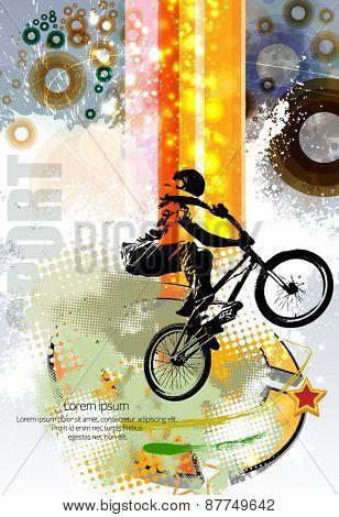 Vector of sport. BMX trick