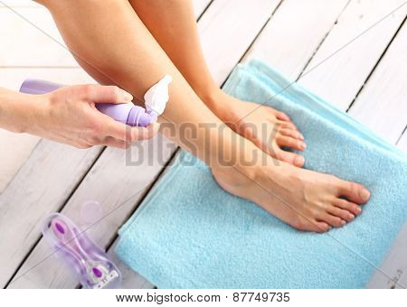 Hair Removal, woman goals legs