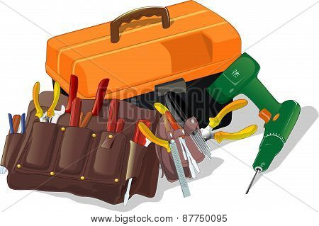 box with tools