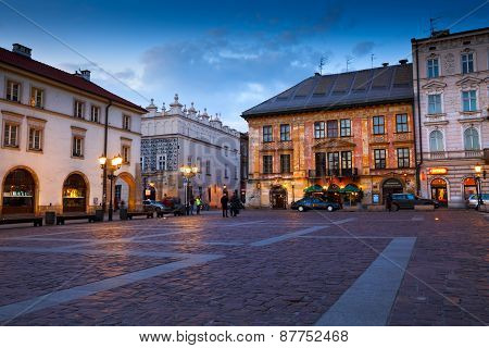 Square in Krakow.