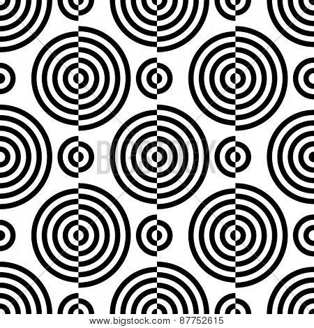 Seamless Circle Background. Abstract Futuristic Pattern