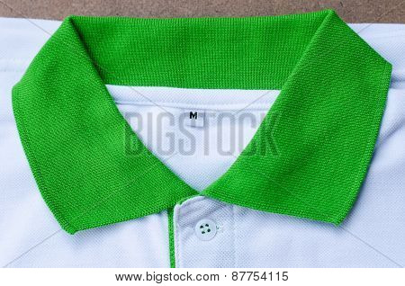 Collar Mans Polo Shirts - Green And White Colors