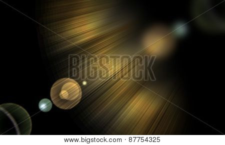 shining rays of glare  on a dark background, abstract