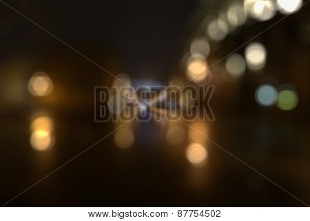 Defocused Avenue Lights