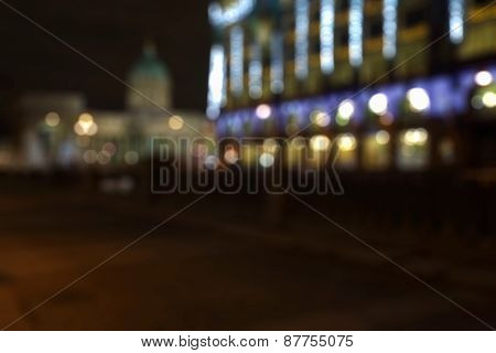 City Defocused Background