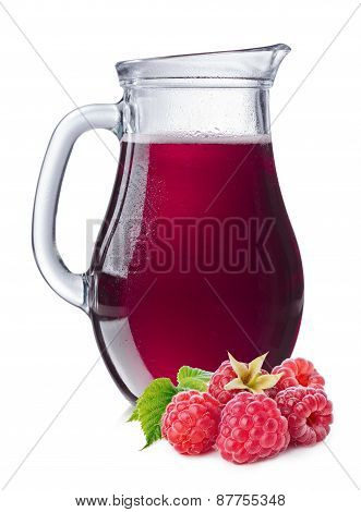 Raspberry  Juice In A Pitcher