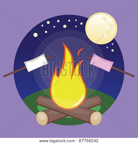 Marshmallows and bonfire