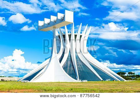 BRASILIA, BRAZIL - CIRCA MARCH 2015: Cathedral of Brasilia, Brazil.