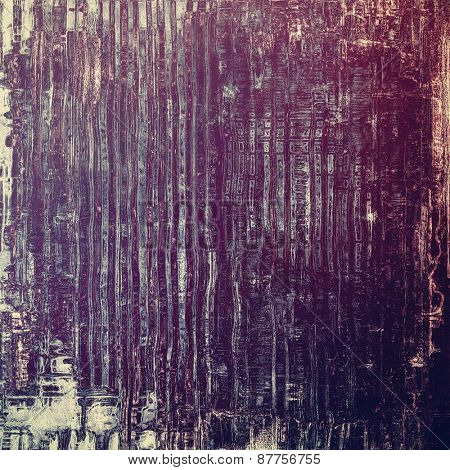 Old grunge textured background. With different color patterns: gray; purple (violet); blue