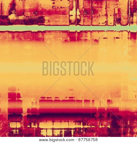 Aged grunge texture. With different color patterns: yellow (beige); purple (violet); pink