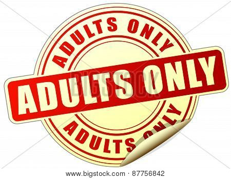 Adults Only Sticker