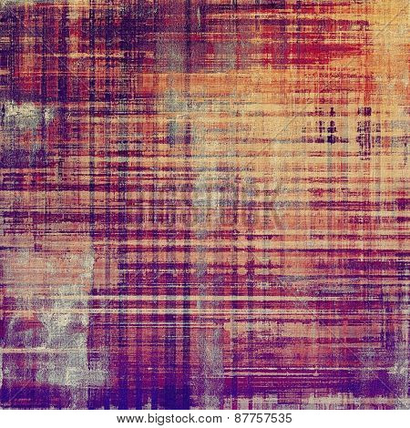 Old designed texture as abstract grunge background. With different color patterns: brown; yellow (beige); purple (violet); pink