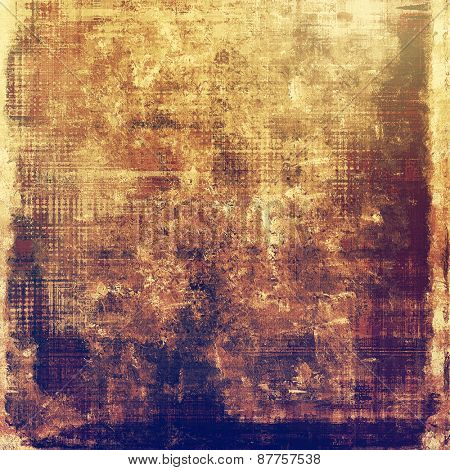 Old abstract grunge background, aged retro texture. With different color patterns: brown; gray; yellow (beige); purple (violet)
