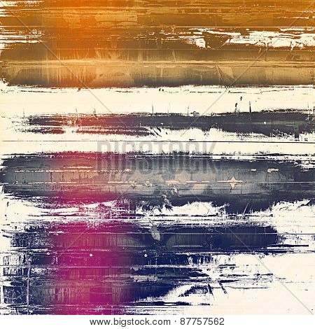 Old grunge antique texture. With different color patterns: brown; yellow (beige); purple (violet); blue