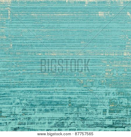 Old-style background, aging texture. With different color patterns: yellow (beige); blue; cyan