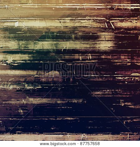 Old grunge antique texture. With different color patterns: brown; gray; purple (violet); black