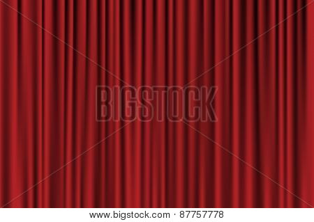 Vector Red Background Looking Like Curtain