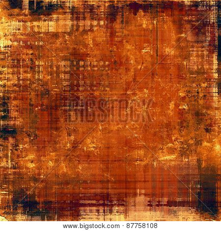 Old grunge textured background. With different color patterns: red (orange); brown; yellow (beige); black