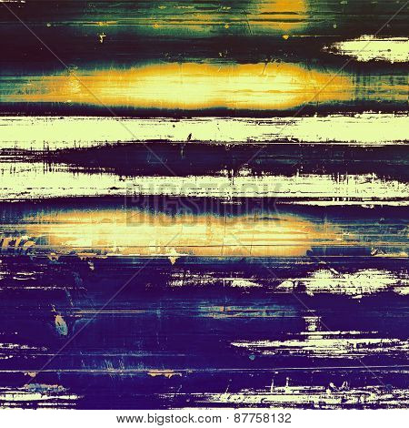 Old style detailed texture - retro background with space for text or image. With different color patterns: yellow (beige); blue; green