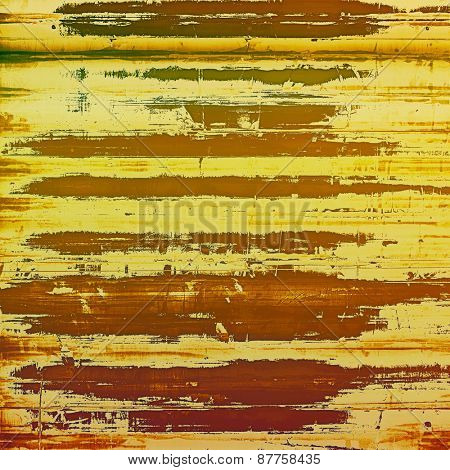 Textured old pattern as background. With different color patterns: brown; yellow (beige)