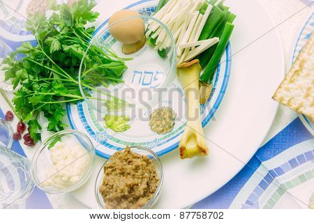 Seder Plate For Passover Ceremony