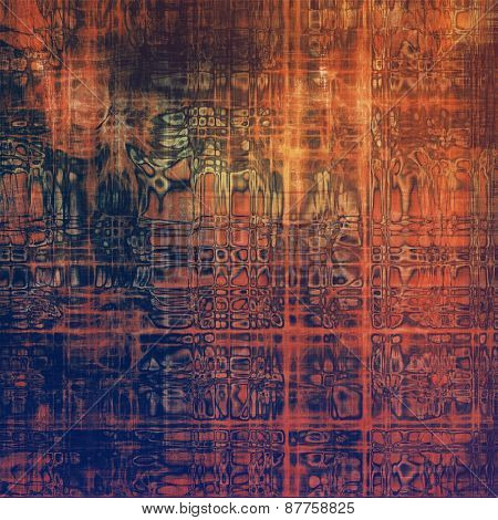 Grunge aging texture, art background. With different color patterns: red (orange); brown; purple (violet)