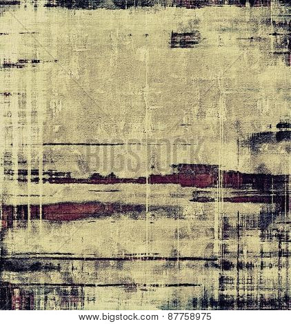 Grunge aging texture, art background. With different color patterns: gray; yellow (beige); purple (violet); black