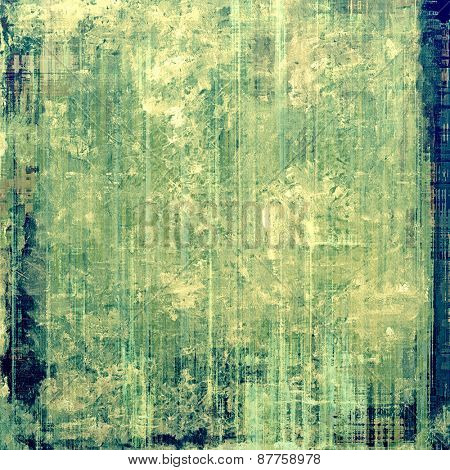 Antique vintage background. With different color patterns: green; yellow (beige); blue; cyan