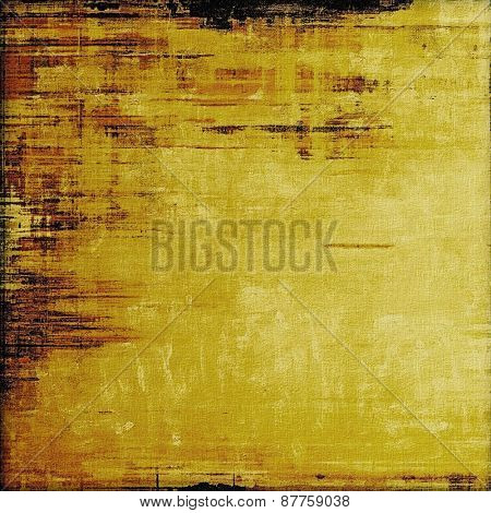 Old-style background, aging texture. With different color patterns: brown; yellow (beige); black