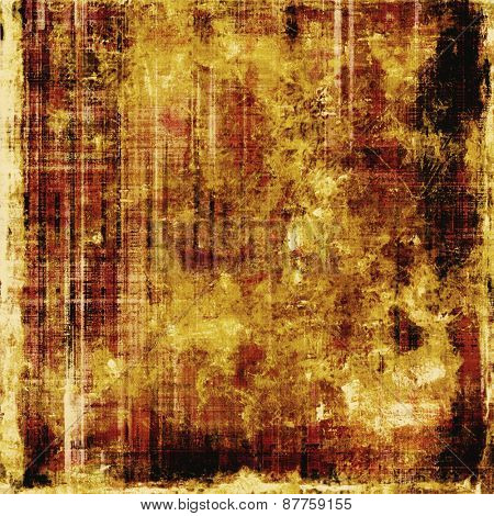 Grunge aging texture, art background. With different color patterns: brown; yellow (beige); black
