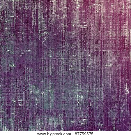Vintage aged texture, colorful grunge background with space for text or image. With different color patterns: purple (violet); blue; pink