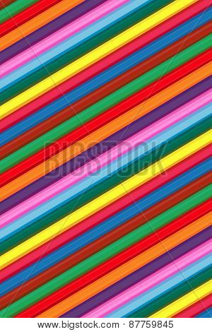 Vector Coloured Wood Pencils Background For Children's Creativity.