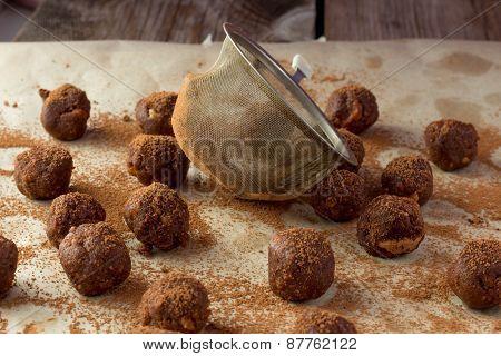 Artisanal Truffle Balls And Sieva