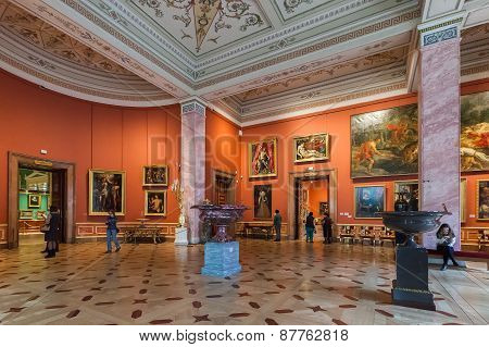Interior Of State Hermitage In St.petersburg, Russia