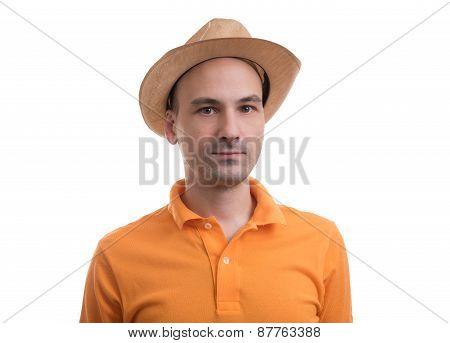 Man Wearing Polo Shirt