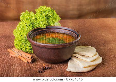 Oriental soup.